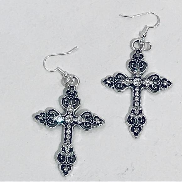 74c738f26 Jewelry | Like A Prayer Gothic Cross Filigree Earrings | Poshmark